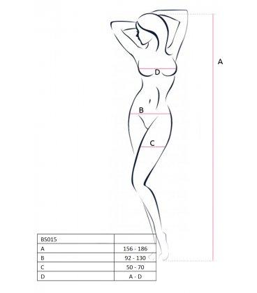 Passion - Bodystocking BS015, White