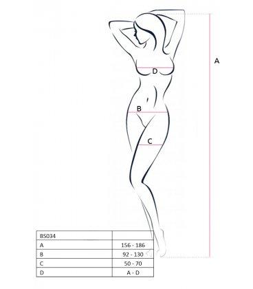 Passion - Bodystocking BS034, Black