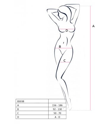 Passion - Bodystocking BS038, Back