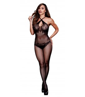 Baci - Floral Lace Crotchless Bodystocking